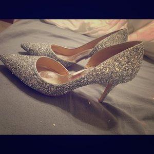 """Badgley mischka """"daisy"""" heels"""
